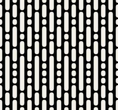 Vector Seamless Black And White Dashed Parallel Vertical Lines  Dots Pattern Stock Illustration