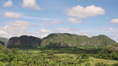 Timelapse Of Sky Nature And Cuban Landscape In Vinales Cuba Stock Footage