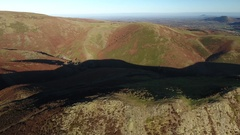 Aerial view of the Shropshire Hills. Stock Footage