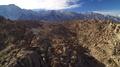 Sierra Nevada Mts Aerial Shot of Mount Whitney and Rocky Desert 4k or 4k+ Resolution