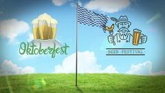 Digitally generated of oktoberfest flag waving Stock Footage