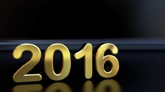 New Year 2017 numbers text. Stock Footage