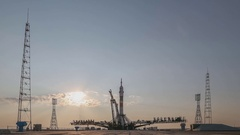 """Launch of space appointment Russian rocket """"Union"""" Stock Footage"""