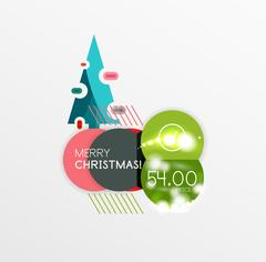 Vector Christmas label or price tag sticker Stock Illustration
