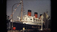 1971: the grand opening of a new cruise ship LAGUNA HILLS CALIFORNIA Stock Footage
