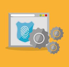 Internet security home page finger print technology Piirros