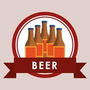 Beer bottles label Stock Illustration