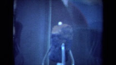 1970: a medium sized rock is on display in a glass display case CALIFORNIA Stock Footage
