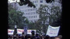 1970: anti-war demonstration WASHINGTON DC Stock Footage