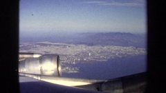 1970: city view from airplane WASHINGTON DC Stock Footage