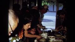 1971: a sumptuous buffet CALIFORNIA Stock Footage