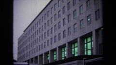 1970: large and small panes of glass line washington, d.c.'s monolithic state Stock Footage