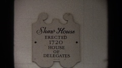 1970: a visit to the historical and very well preserved shaw´s house WASHINGTON Stock Footage