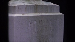 1970: headstone for richard evelyn byrd WASHINGTON DC Stock Footage