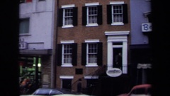 1970: beautiful windows on multi story building. WASHINGTON DC Stock Footage