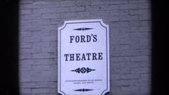 1970: ford's theater sign and building WASHINGTON DC Stock Footage