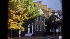 1970: a grand and majestic building with lot of trees in the premises ANNAPOLIS Stock Footage