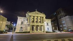 Prague State Opera Hyperlapse Stock Footage