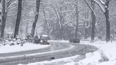 Heavy Snowfall Lake-Effect Snow Stock Footage