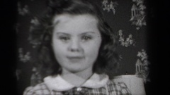 1939: a little girl smiling so big NEW YORK Stock Footage