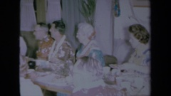 1961: hawaiian luau party CALIFORNIA Stock Footage