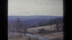 1959: survey of a bleak area from a car NEW YORK Stock Footage