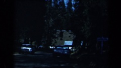 1969: a drive down the road through a quiet neighborhood CALIFORNIA Stock Footage