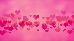 Red And Pink Heart Valentines Day Background Stock Footage
