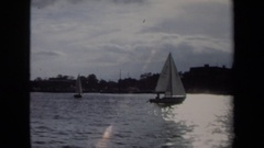 1970: yacht water-play ANNAPOLIS Stock Footage