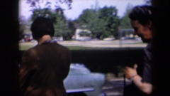 1958: two middle aged ladies are going for a stroll together NEW YORK Stock Footage