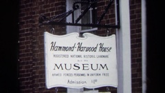 1970: sign: hammond harwood house museum ANNAPOLIS Stock Footage