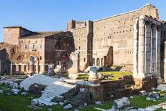 Forum of Augustus on ancient roman forums in Rome Stock Photos