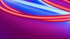 Abstract lights background. Red and blue neon glass tube light lighting. Stock Footage
