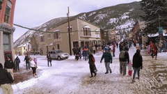 Annual Christmas Market. Georgetown, Colorado, USA Stock Footage