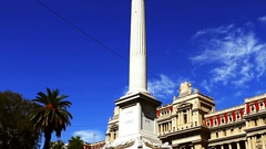 The Plaza de Mayo is the main square in Buenos Aires, Argentina Stock Footage