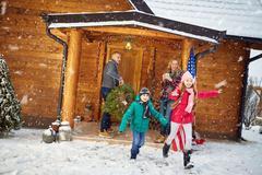 Christmas holiday- family vacation. Kuvituskuvat