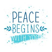 International Day of Peace. Trend calligraphy Stock Illustration