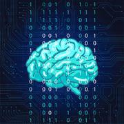 Creative concept of the human brain Stock Illustration