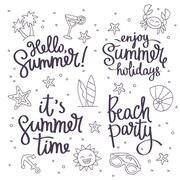This Summer, Beach Party, Hello Summer, enjoy the summer holidays Piirros