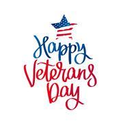 Happy Veterans Day. Calligraphy. Stock Illustration
