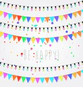 Birthday, holiday, festival decoration outdoor. Christmas and New Year ligh.. Stock Illustration