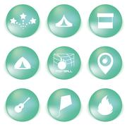 Icon set for holidays, relax, travel, weekend in vector Piirros