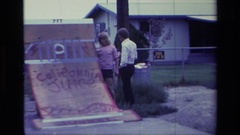 1976: skate board ramp in the middle of the road ALISO VIEJO CALIFORNIA Stock Footage