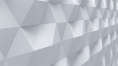 Gypsum Panel 3d Wall. Looped Animation Stock Footage