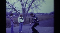 1976: dogs and sports ALISO VIEJO CALIFORNIA Stock Footage