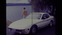 1977: a view of the huge lake BIG BEAR CALIFORNIA Stock Footage