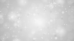 Shiny sparkling grey white stars video animation Stock Footage
