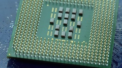 Hardware. Photo of processor on motherboard Stock Footage