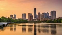 Austin Texas Skyline Stock Footage