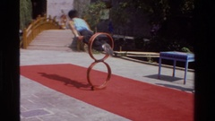 1984: a flexible human body art SINGAPORE THAILAND Stock Footage